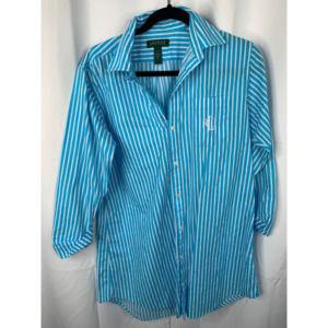 Ralph Lauren blue white button down S vintage